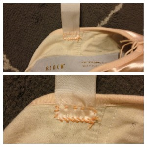 Sew Ribbons Adjacent to Center Seam