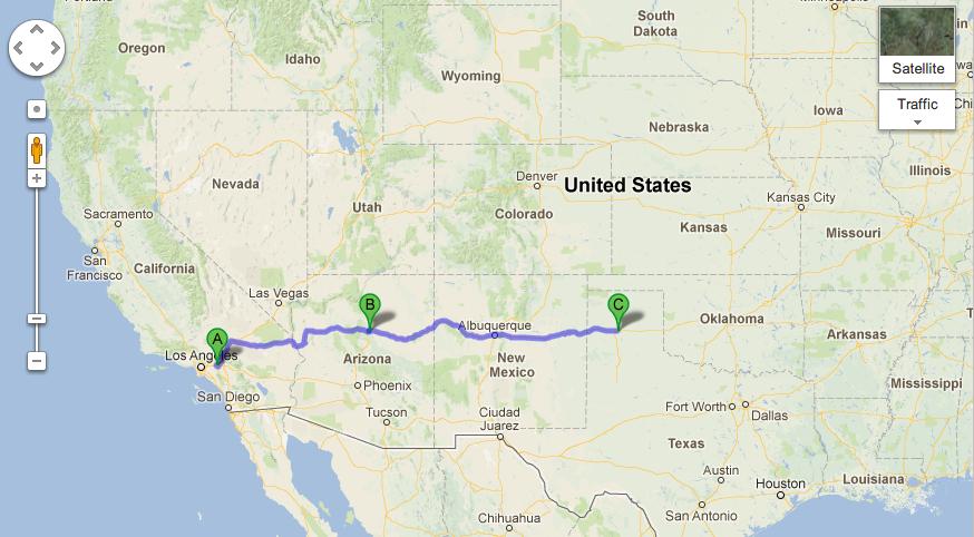 Flagstaff to Amarillo