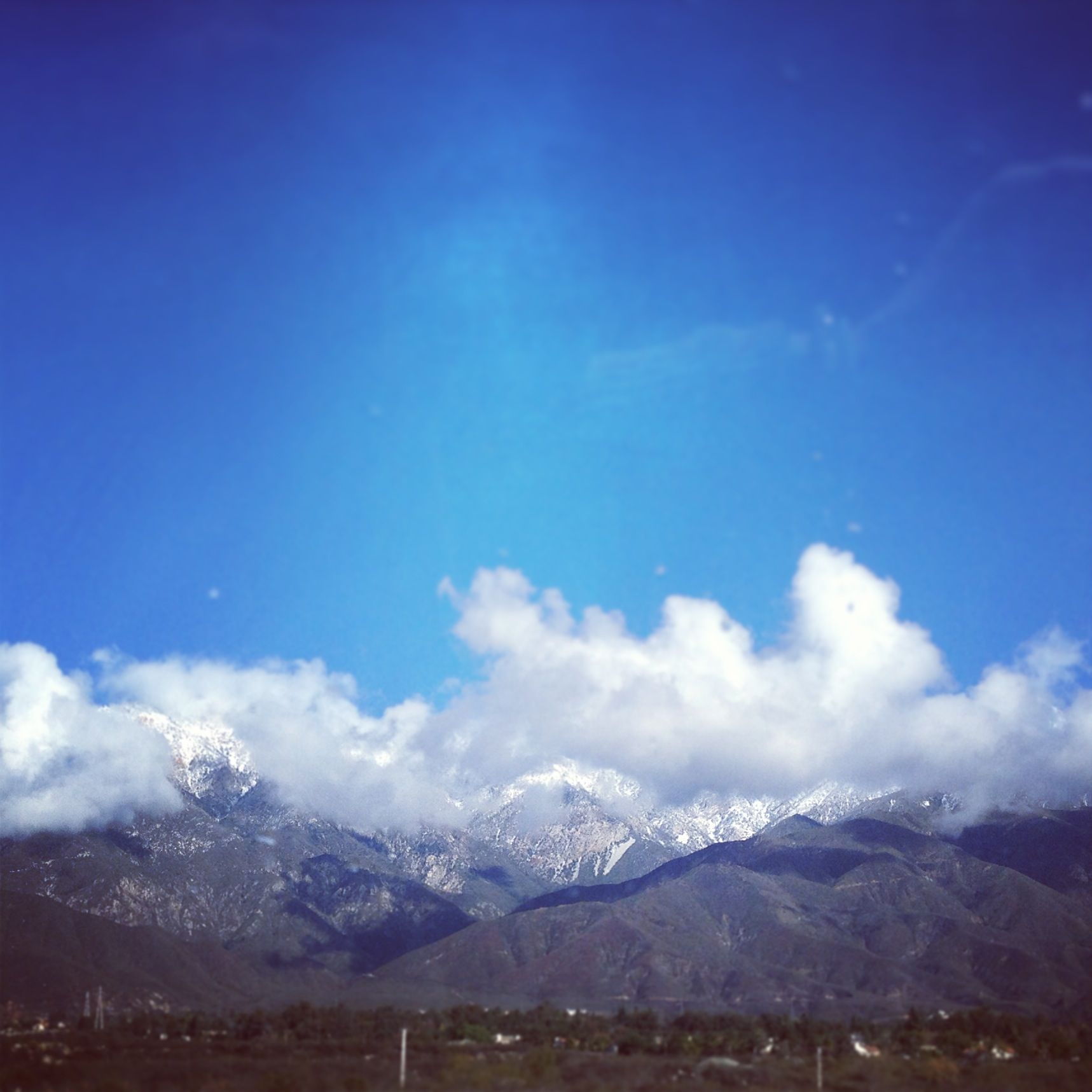 Snowy Mountains in Upland California