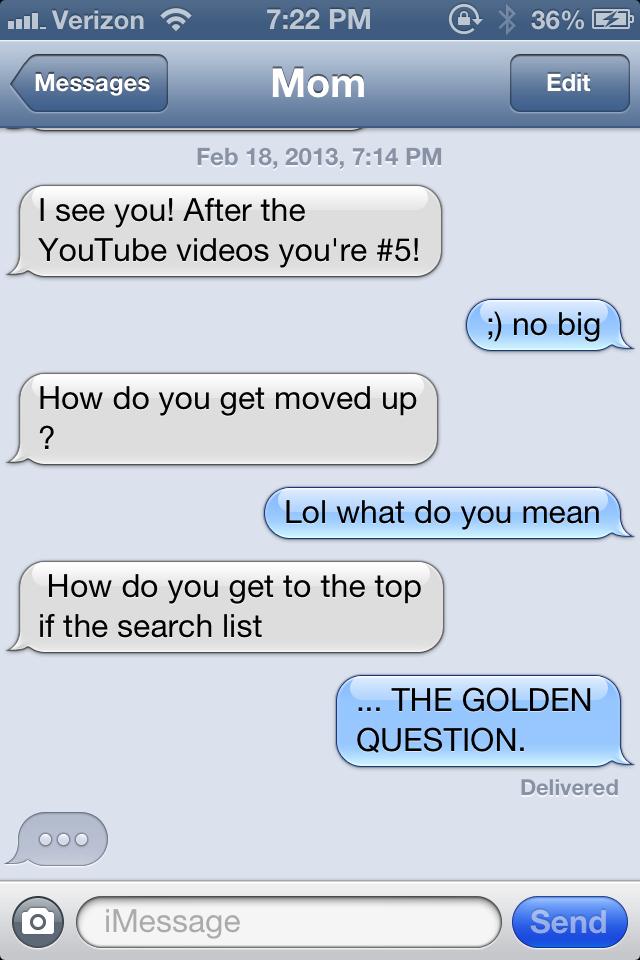 hilarious texts mom