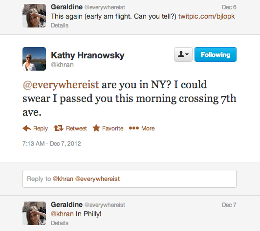 Spotting Geraldine in NYC?